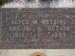 Alyce M Betzing