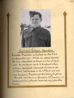 Gunner Harold Elmer Warden