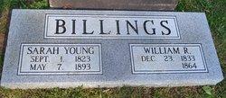 Sarah <i>Young</i> Billings