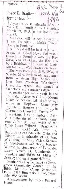 Joyce Elinor <i>Gunderson</i> Braithwaite