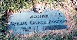 Willie Grace <i>Chapple</i> Bowman