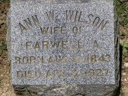 Ann W <i>Hoover</i> Wilson
