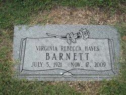 Virginia Rebecca <i>Hayes</i> Barnett