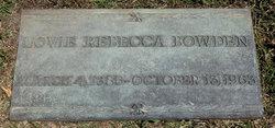 Lovie Rebecca <i>Merrell</i> Bowden