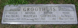 Minnie <i>Groothuis</i> Bultema