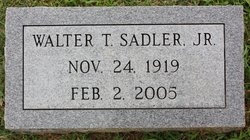 Walter T Sadler, Jr