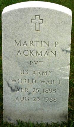 Martin P Ackman
