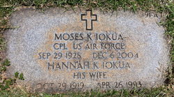 Moses K Iokua