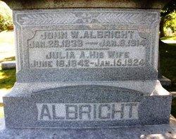 Julia A <i>Sutton</i> Albright