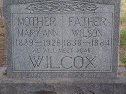 Mary Ann <i>Griffan</i> Wilcox