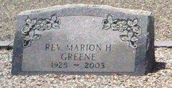 Rev Marion H Greene
