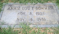 Annie Lou <i>Fogleman</i> Bowman