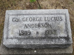 Col George Lucius Anderson