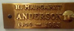 H Margaret Anderson