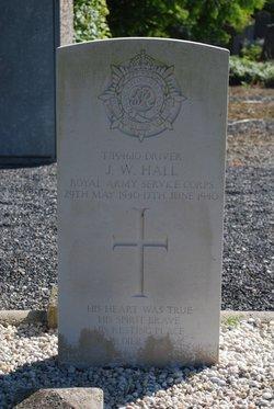 Pvt John Walter Hall