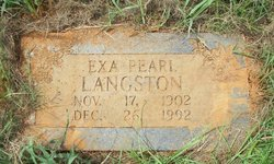 Exa Pearl <i>Carroll</i> Langston