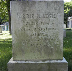 Abbie H <i>Lord</i> Bolster