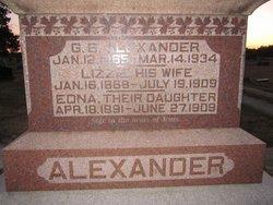 Elizabeth Lizzie <i>Walden / Waldren(?)</i> Alexander