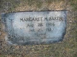 Margaret M Baker