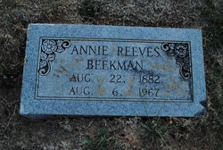 Annie <i>Reeves</i> Beekman
