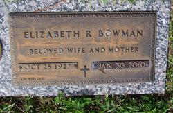 Elizabeth R Bowman