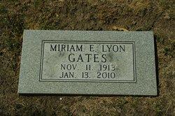 Miriam E <i>Lyon</i> Gates