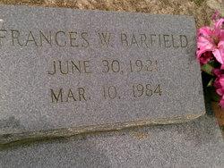 Frances W Barfield