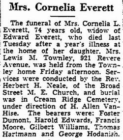 Cornelia L <i>Roberts</i> Everett