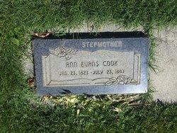 Ann <i>Evans</i> Cook