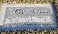 Fannie Bell Martha <i>Hadlock</i> Hadlock