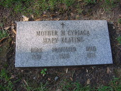 Mother M. Cyriaca (Mary) Keating