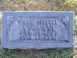 Willie Melvell <i>Weldon</i> Coleman