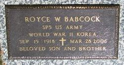 Spec Royce W. Babcock