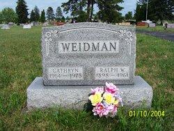 Cathryn A <i>Rettig</i> Weidman