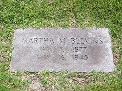 Martha M <i>Smith</i> Blevins