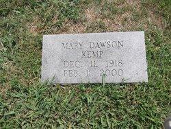 Mary <i>Dawson</i> Kemp