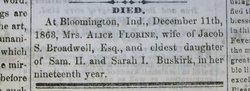 Alice F. <i>Buskirk</i> Broadwell