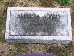 Alberta <i>Adams</i> Allen