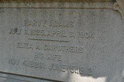 Eliza Ann <i>Carothers</i> Adams