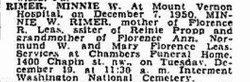 Minnie Whilmena <i>Propp</i> Rimer