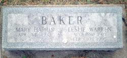 Mary <i>Harris</i> Baker