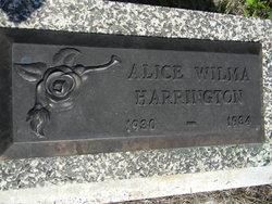 Alice Wilma Harrington