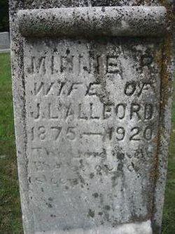 Minnie R <i>Milstead</i> Allford