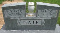 Elaine <i>Ransom</i> Nate