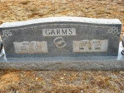 Cora Ann Ann <i>Leatherwood</i> Garms