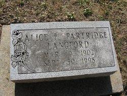 Alice F <i>Partridge</i> Langford