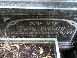 Mme Vve Paul <i>Ritz</i> Pigeon