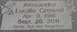 Lucille <i>Crowell</i> Alexander