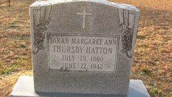 Sarah Margaret Ann <i>Thursby</i> Hatton