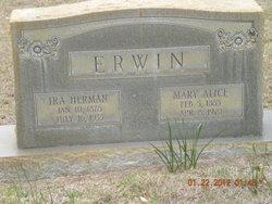 Mary Alice <i>Tucker</i> Erwin